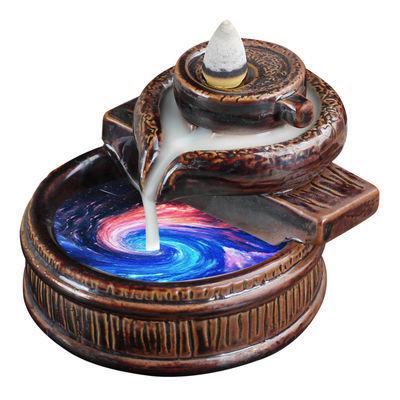 【买就送香炉】檀香倒流香炉香薰家用蚊香熏香驱蚊厕所除臭塔香炉主图