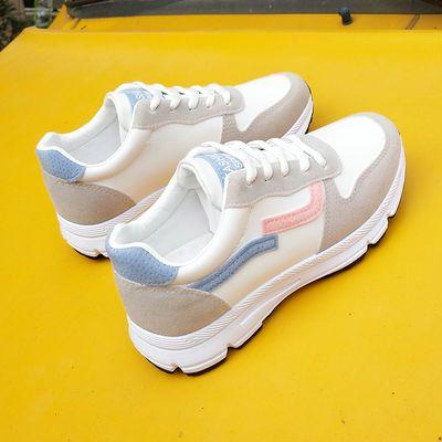 夏季新款网面透气运动鞋女学生韩版百搭女士ins潮平底休闲跑步鞋