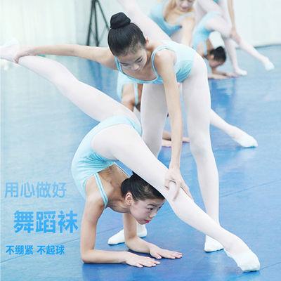 儿童练功服民族芭蕾舞蹈袜连裤袜白色女童跳舞袜子纯棉薄款打底裤