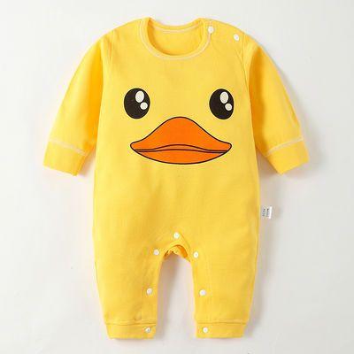 男3女宝宝秋装0一1岁6-12个月婴儿衣服潮款薄绒夹棉连体衣秋冬季9