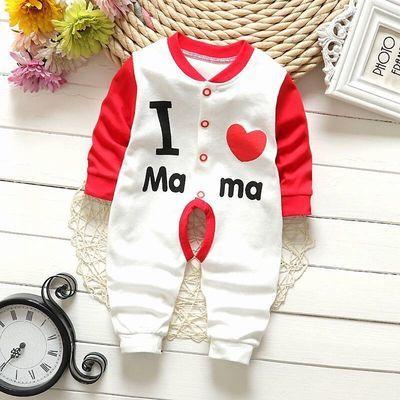 婴儿保暖连体衣秋冬0到3个月春季婴幼儿女童宝宝纯棉哈衣外出服
