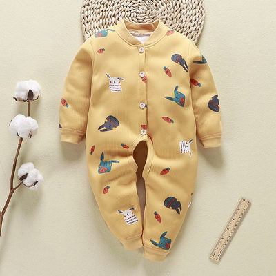 叮当猴婴儿连体衣秋冬季保暖纯棉棉衣婴儿衣服新生儿男女宝宝哈衣