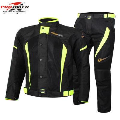 摩托车防水骑行服套装四季加厚保暖越野防风上衣裤子机车骑士装备