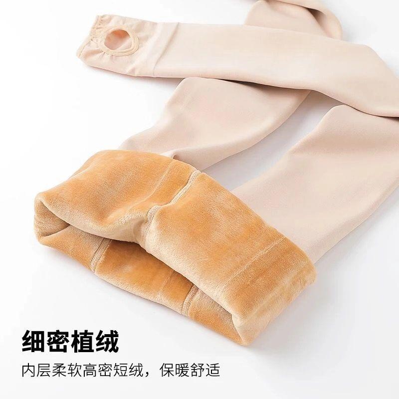 便宜的加绒打底裤女外穿高腰显瘦光腿保暖裤神器肤色加厚连裤袜女大码冬