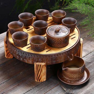紫砂半全自动功夫茶具茶盘套装家用陶瓷懒人泡茶创意茶壶茶杯整套