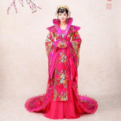 演出服古装唐朝贵妃皇后拖尾戏服舞台表演汉服冬公主cosply服装女