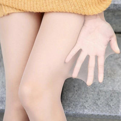 光腿神器女秋冬季加绒加厚肤色假透肉打底裤女肉色踩脚一体打底裤