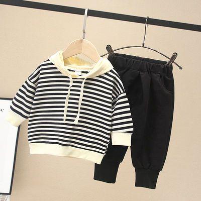 韩版男女宝宝卫衣服洋气婴儿童三件套装纯棉长袖外套一岁小童秋装