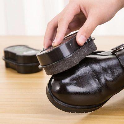 无色鞋蜡鞋擦鞋刷鞋油擦鞋海绵一擦即亮【1-10个装】+【补充油】