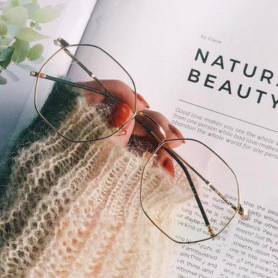 古多边形眼镜框架文艺近视镜韩版防辐射近视眼镜女防蓝光平光镜复