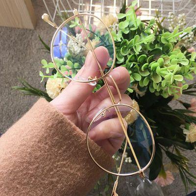 外线圆框架近视眼镜女抗防蓝光防辐射眼镜男平光电脑手机护眼防紫