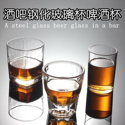 用水杯白酒杯八角杯钢化杯10个包邮无铅玻璃杯啤酒杯KTV洋酒杯家【3月31日发完】
