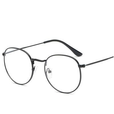 眼镜学生近视镜金属架男女潮文艺抗蓝光平光镜复古新款防蓝光