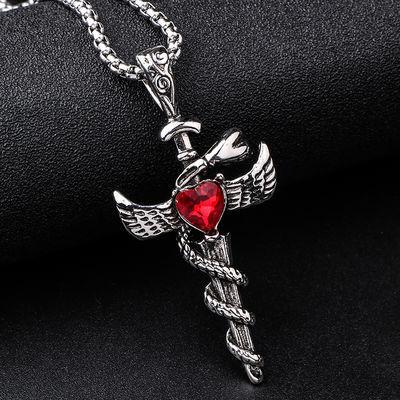 钛钢十字架项链
