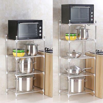 正品不锈钢厨房置物架 送挂钩 锅架多层收纳架厨房整理架脸盆架子