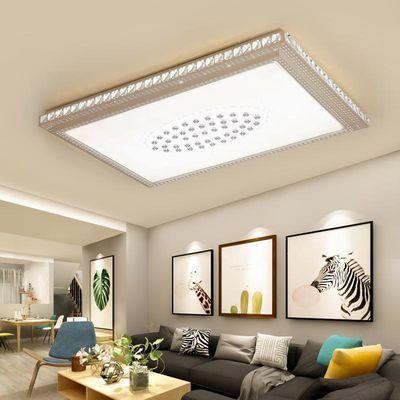 木林森照明客厅灯吸顶灯水晶灯长方形led简约现代主卧室灯家用灯