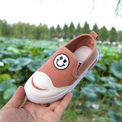 3--8岁春秋季新款男童帆布鞋儿童布鞋板鞋一脚蹬女童软底休闲鞋潮