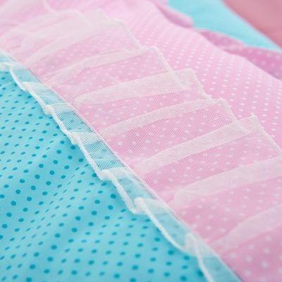 韩式蕾丝四件套公主风花边床裙床上用品单双人床单被套非全棉纯棉