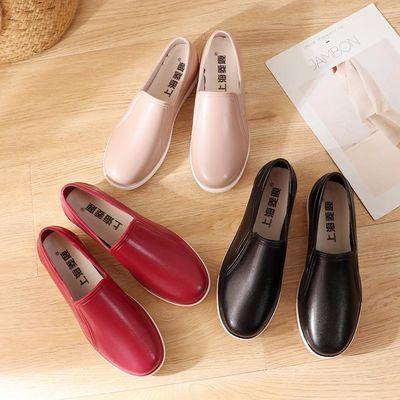 新款学生女雨鞋短筒防滑防水板鞋平底厨房胶鞋低帮雨靴休闲水鞋女