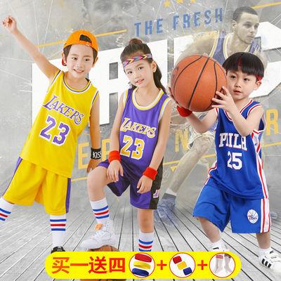 儿童篮球服套装幼儿表演服nba篮球服勇士库里湖人詹姆斯科比球衣