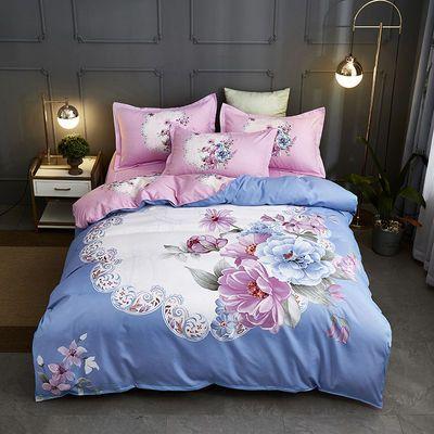 老爷车家纺秋冬四件套床上用品公主风网红同款床单双人被套仿纯棉