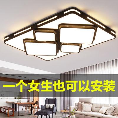 LED吸顶灯简约现代客厅灯长方形 圆形卧室灯大厅书房走廊灯具灯饰