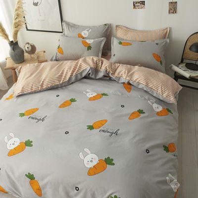 舒耐家纺 ins简约风四件套床上用品亲肤1.8米双人宿舍1.2床单被套【3月2日发完】