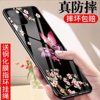 苹果11手机壳iPhoneX/7/8女XR防摔Xs Max玻璃6s/6splus男promax软