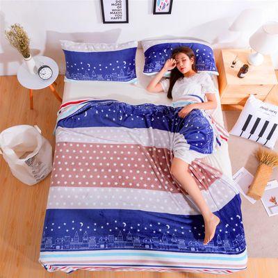 法莱绒毛毯四季盖毯午睡毯冬季加厚珊瑚绒毯子单双人空调毛毯床