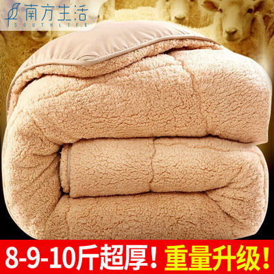 【加厚10斤】加厚羊羔绒冬被双人被子保暖被芯棉被单人学生被褥子