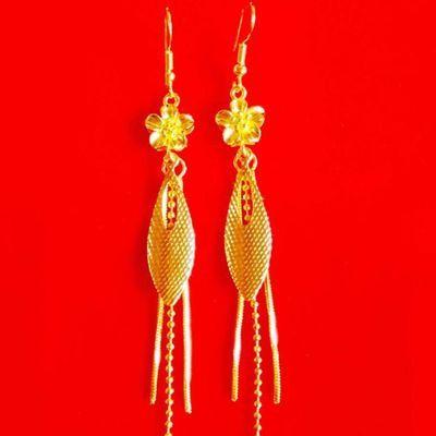 仿真黄金耳环女 越南沙金耳钉耳圈耳饰耳环长款饰品首饰 久不褪色