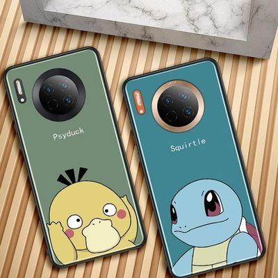 可达鸭杰尼龟 华为mate30手机壳mate30pro保护套5g玻璃卡通日韩