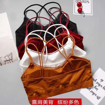 韩版无钢圈学生文胸高中初中内衣少女性感吊带小背心裹胸抹胸罩