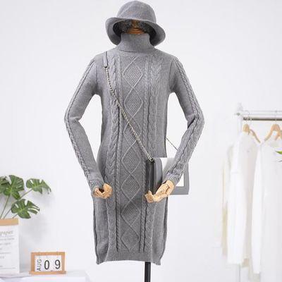 包邮A&26 女装韩版高领毛衣裙气质修身连衣裙时尚新款休闲洋气
