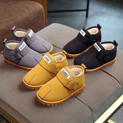 冬季儿童雪地靴女童加绒加厚棉鞋男童保暖马丁靴宝宝平底防滑短靴主图