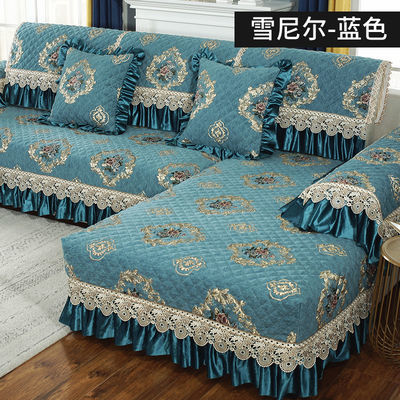 沙发垫四季通用雪尼尔垫子欧式防滑坐垫简约现代客厅全包套沙发套