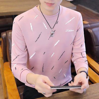 高品质卫衣男圆领T恤男士打底衫男装长袖t恤衫修身青年春装套头衫