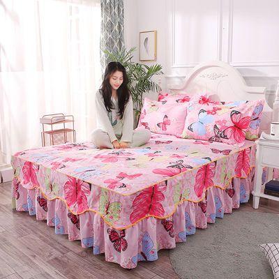 俊希家纺席梦思床裙床罩床套单件公主床盖床单床笠1.2/1.5/1.8m