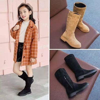 女童靴子儿童马丁靴2020冬季新款中大童甜美公主高帮绒里棉靴