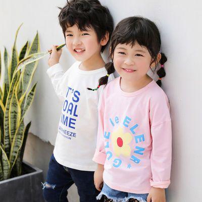 男童长袖T恤 2019春秋春装童装儿童女童宝宝小童上衣打底衫1岁3潮