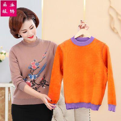 妈妈装毛衣新款秋冬中老年女装针织打底衫中长款奶奶装宽松加厚