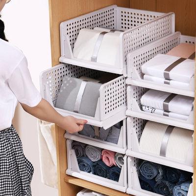 衣柜收纳神器分层隔板抽屉式收纳架收纳箱塑料大号衣橱整理置物架