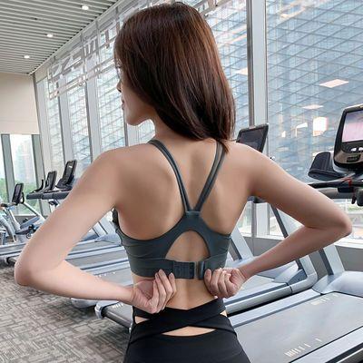 运动内衣女防震跑步无钢圈聚拢定型专业可调节背心式瑜伽文胸训练