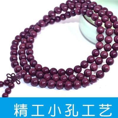 紫罗兰木手串108颗紫苏木念珠手持绿檀黑檀小叶紫檀佛珠男女手链