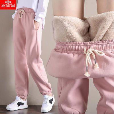 俞兆林秋冬薄款/加绒加厚羊羔绒裤子女学生韩版哈伦裤运动卫裤