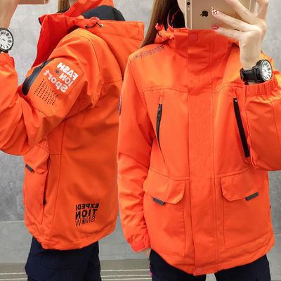 冲锋衣女三合一潮牌可拆卸两件套加绒加厚韩版大码秋冬户外登山服