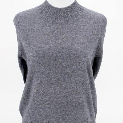 中老年女装毛线衣打底衫纯色圆领长袖妈妈装秋装毛衣套头奶奶针织