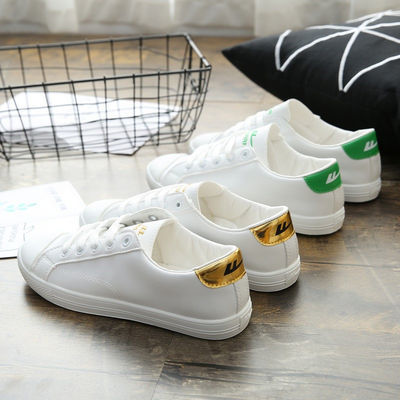 上海正品回力女鞋新款PU软皮鞋轻便软底休闲运动鞋百搭平底小白鞋