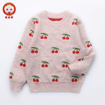 秋冬新款羊绒衫女童套头毛衣儿童中大童羊毛衫宝宝毛线衣双层加厚