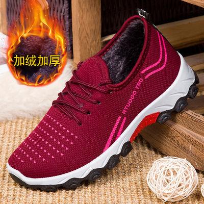 老北京布鞋女鞋棉鞋妈妈鞋防滑冬季加绒加厚雪地靴中老年人棉靴